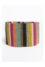 Muted Multi Stripe Stretch Bracelet