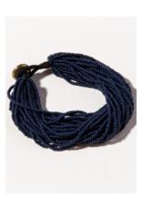 Navy Multi Layer Seed Bead Bracelet