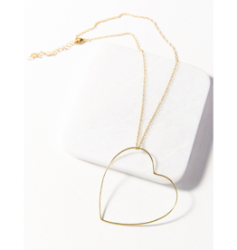 Open Heart Wire Necklace