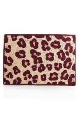 Pink Cheetah Beaded Clutch