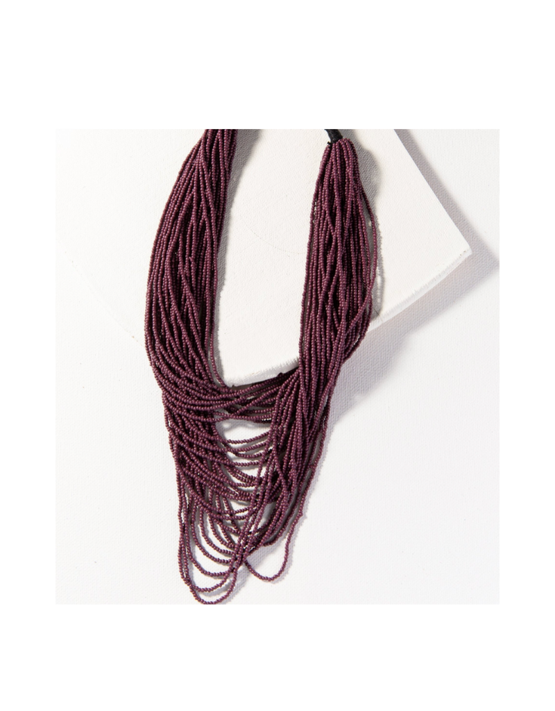 Port Seed Bead Multi Layer Necklace