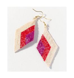 Scarlet Magenta Diamond Luxe Earring
