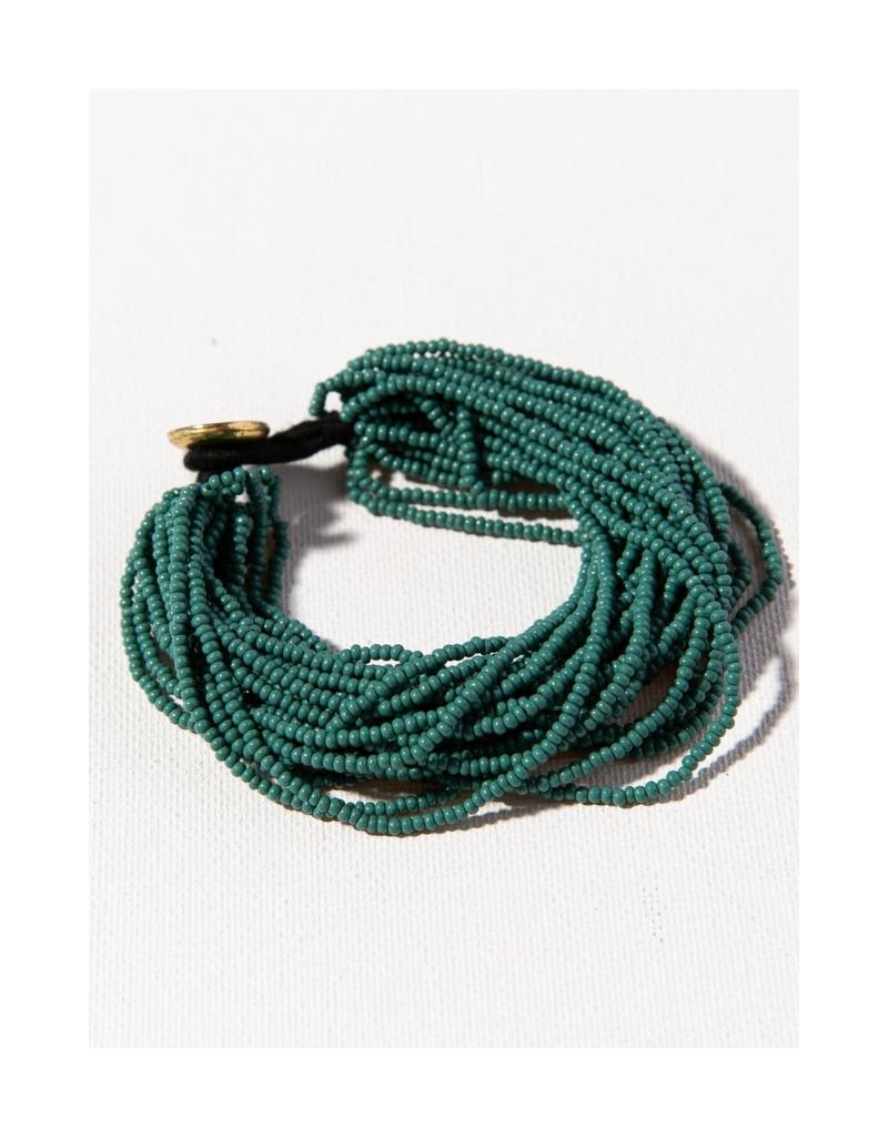 Teal Multi layer Seed Bead Bracelet