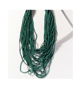 Teal Seed Bead Multi layer Necklace