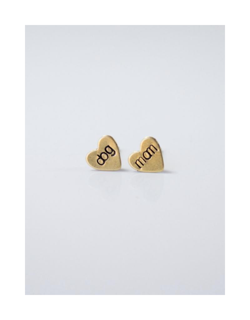 Dog Mom Heart Earrings