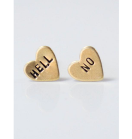 Hell No, Heart Earrings