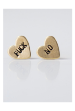 Fuck No, Heart Earrings