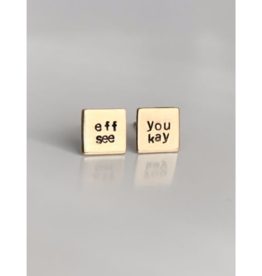 eff you see kay, Hand Stamped Earrings