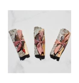 White Sage + Agate Smudge Stick - Rose