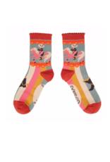 Ladies Ankle Socks Cowgirl