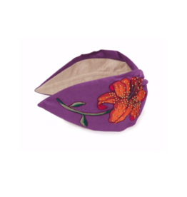 Embroidered Headband Lilac Lily