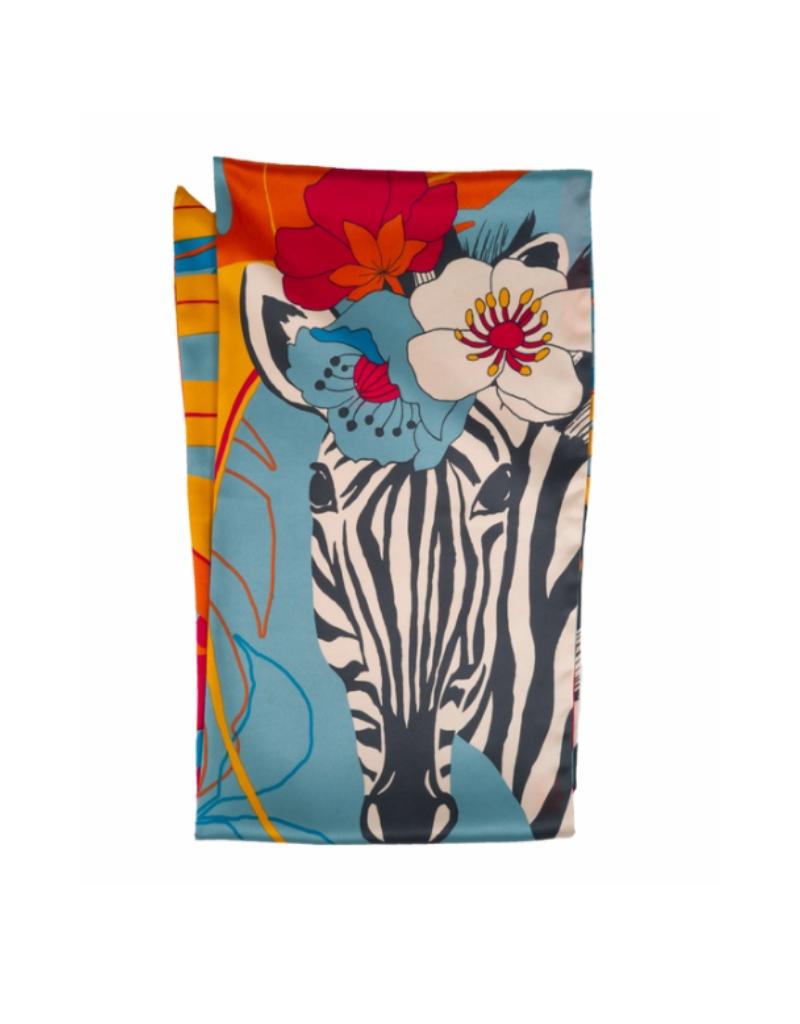 Neck Scarf Flora Zebra