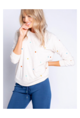Retro Lounge Top with Heart Print Top