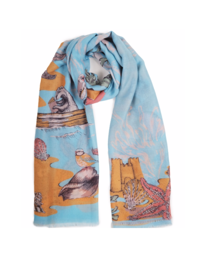 Printed Scarf Summer at the Seaside