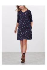 Layla Print A Line Jersey Dress