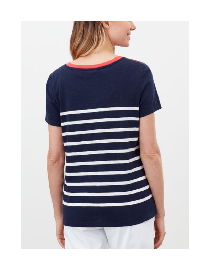 Carley Stripe Classic Crew T-Shirt Top