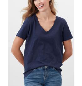 Celina Solid V Neck T-Shirt Top