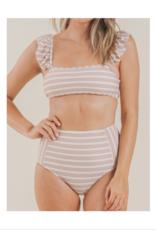 Ruffle Sleeve Bikini Top