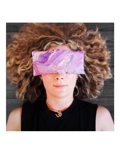 HandDyed Lavender Eye Pillow