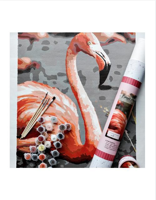 Frannie Flamingo Printed Canvas