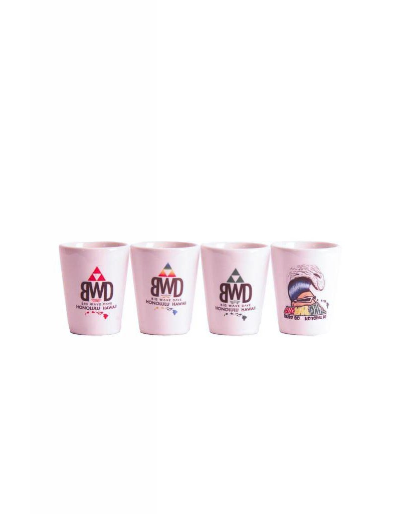 Big Wave Dave 1.5 oz. Shot Glass - Triangle Red