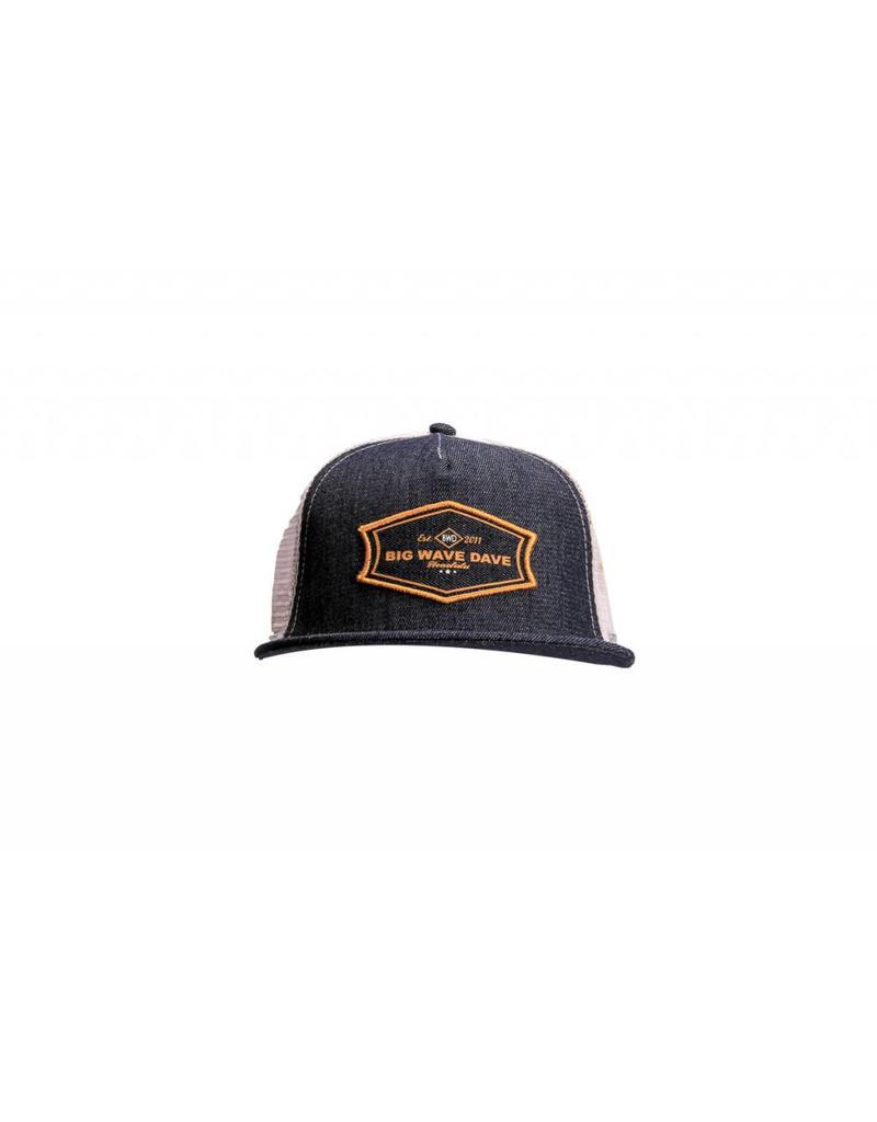 Big Wave Dave BWD Denim Trucker Hat
