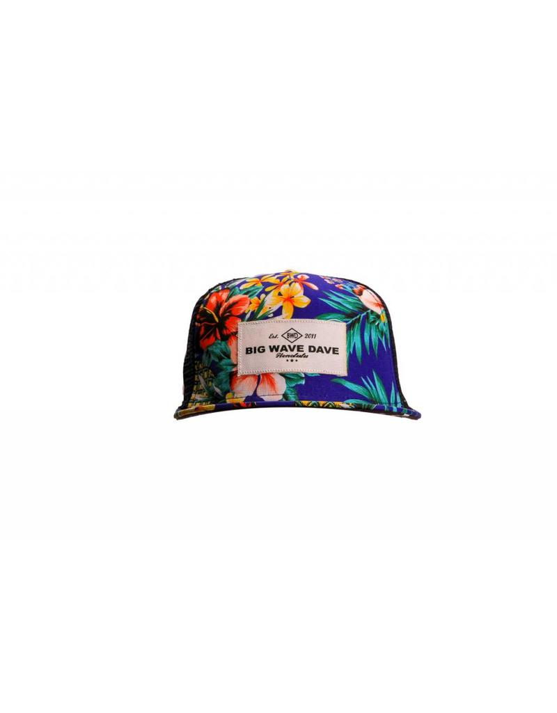 Big Wave Dave BWD Blue Hawaiian Trucker Hat