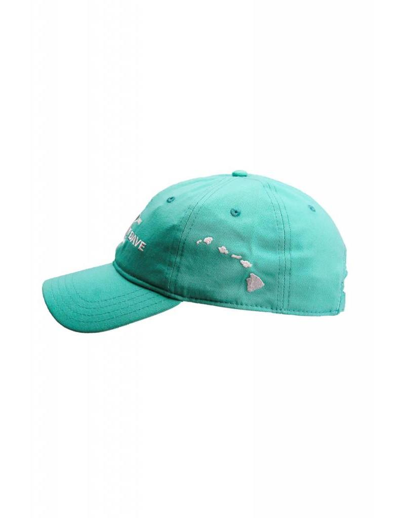 Big Wave Dave BWD Est. 2011 Hat Seafoam Low Profile