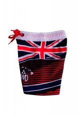 Big Wave Dave BWD Hawaiian Flag Toddler Boardshorts Red,White, Blue