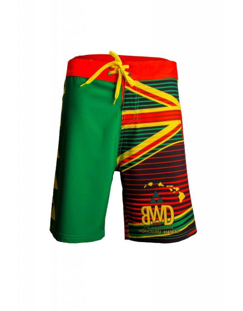 Big Wave Dave BWD Hawaiian Flag Boardshorts