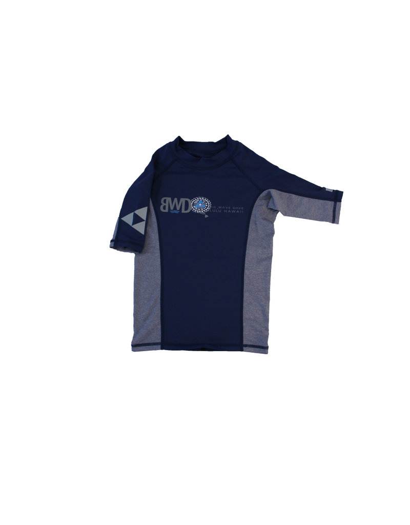 Big Wave Dave BWD  Boys Atlas Short Sleeve Rashguard