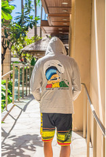 Big Wave Dave Retro Reggae Hoodie Grey and Green