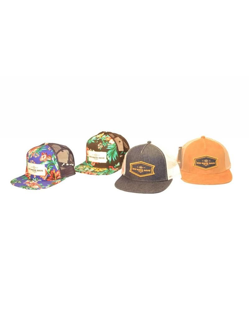 Big Wave Dave BWD Camel Corduroy Trucker Hat