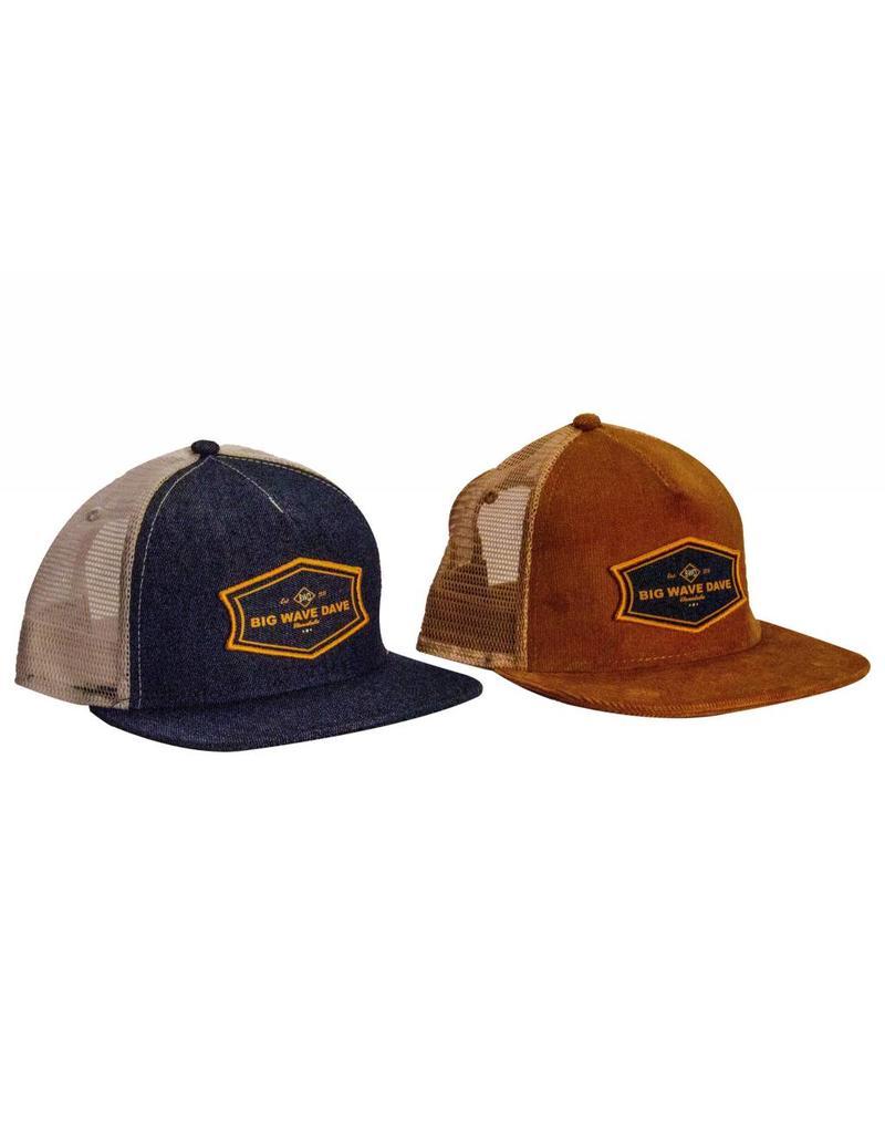 Big Wave Dave Indigo Denim BWD Trucker Hat