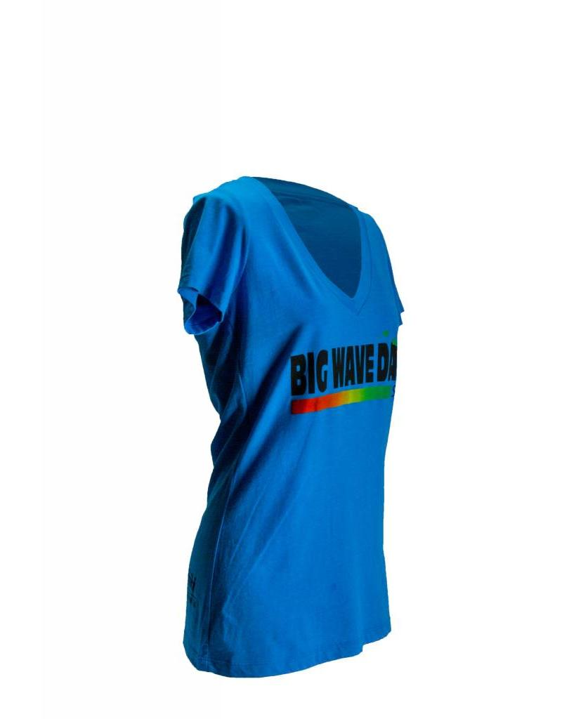Big Wave Dave BWD Happy Woman  V-Neck Tee