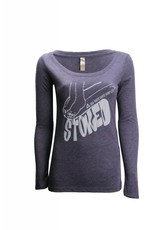 Big Wave Dave BWD Stoked Long Sleeve Scoop Neck Shirt