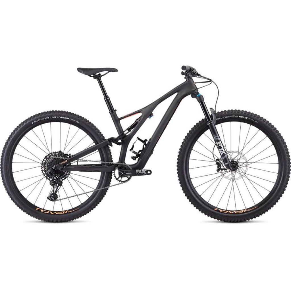 Specialized 2019 Specialized Stumpjumper Comp Carbon, 29, Carbon/Lava - Small