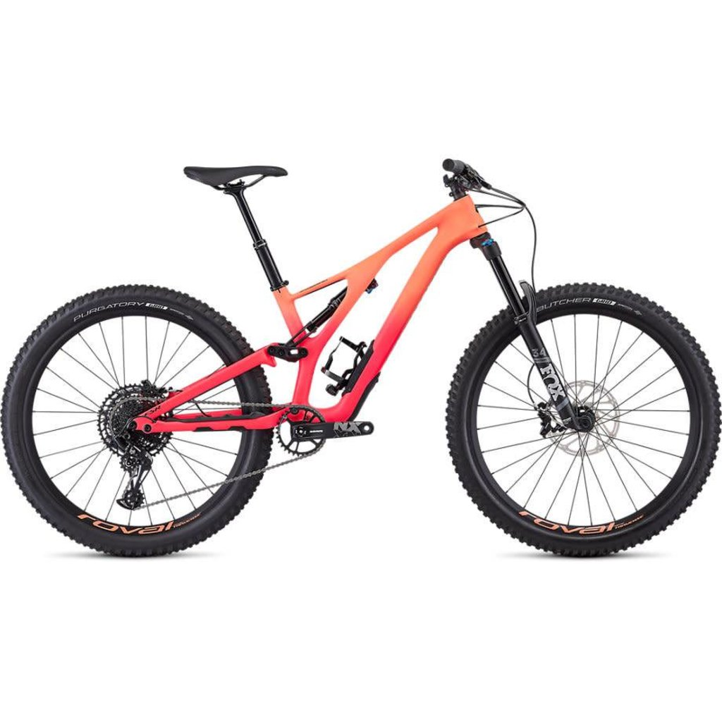Specialized 2019 Specialized Stumpjumper Comp Carbon, 27.5,  Lava/Pink - Small