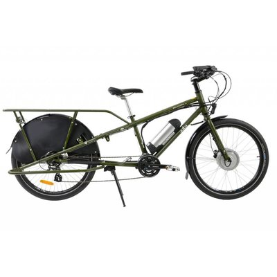 Yuba Bicycles LLC Yuba Mundo V5, Stand Over, 750w, Olive