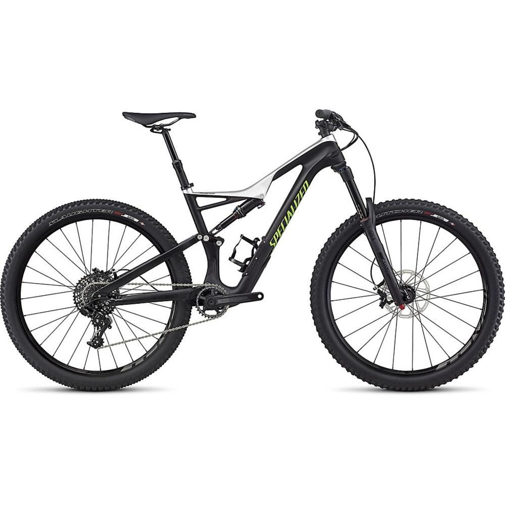 Specialized 2017 Specialized Stumpjumper FSR Expert Carbon, 650B, White- Large
