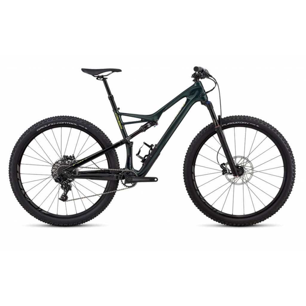Specialized 2018 Specialized Camber FSR Comp Carbon, 29, Green - Medium
