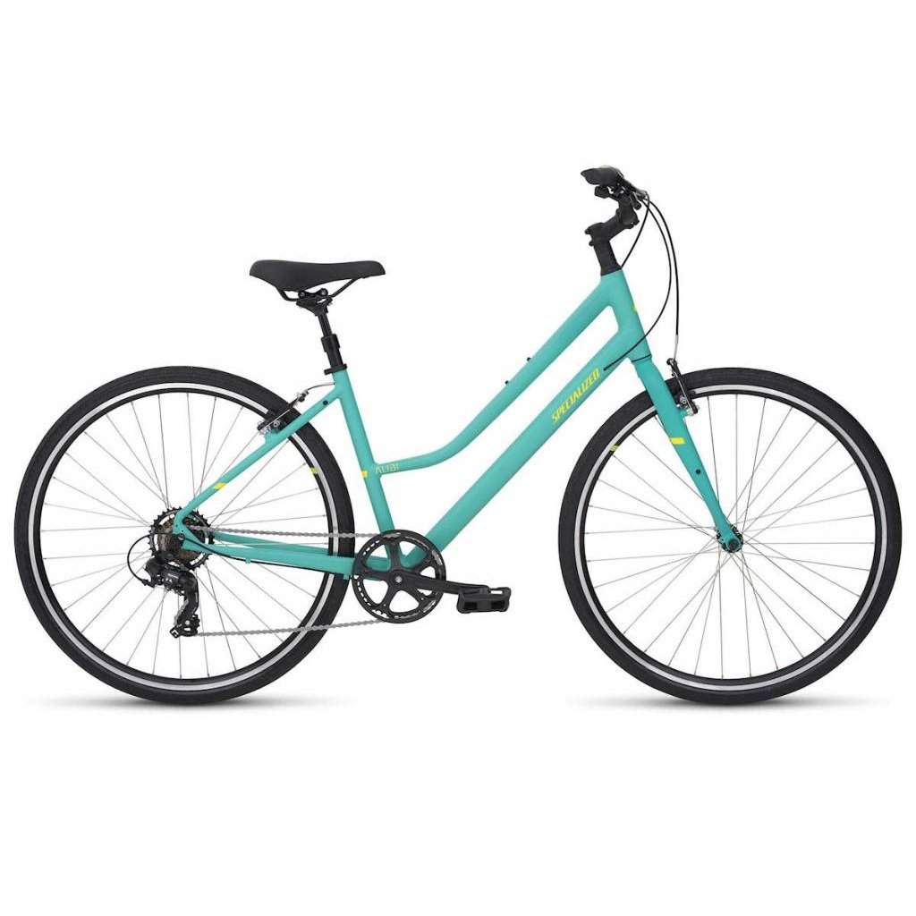Specialized 2019 Specialized Alibi Step Through, Acid Mint/Powdered Coral - Large
