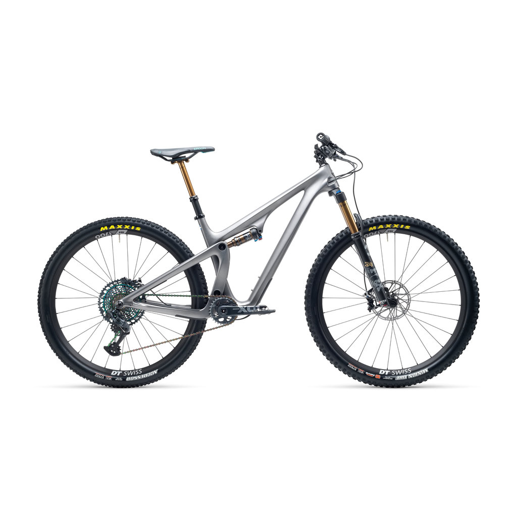 YETI CYCLES 2021 YETI SB115 T3, TURQ  AXS XX1 Eagle, Fox Factory 34 CARBON WHEELS MD ANTHRACITE