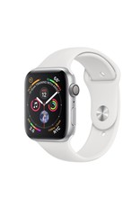Apple Apple Watch 4 GPS, 44 mm Silver Aluminum Case with White Sport Band