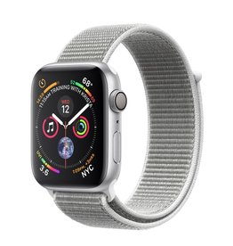 Apple Apple Watch 4 GPS +Cellular, 44mm Silver Aluminum Case with Seashell Sport Loop
