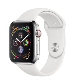 Apple Apple Watch 4 GPS + Cellular 40 mm Silver Aluminum Case with White Sport Band
