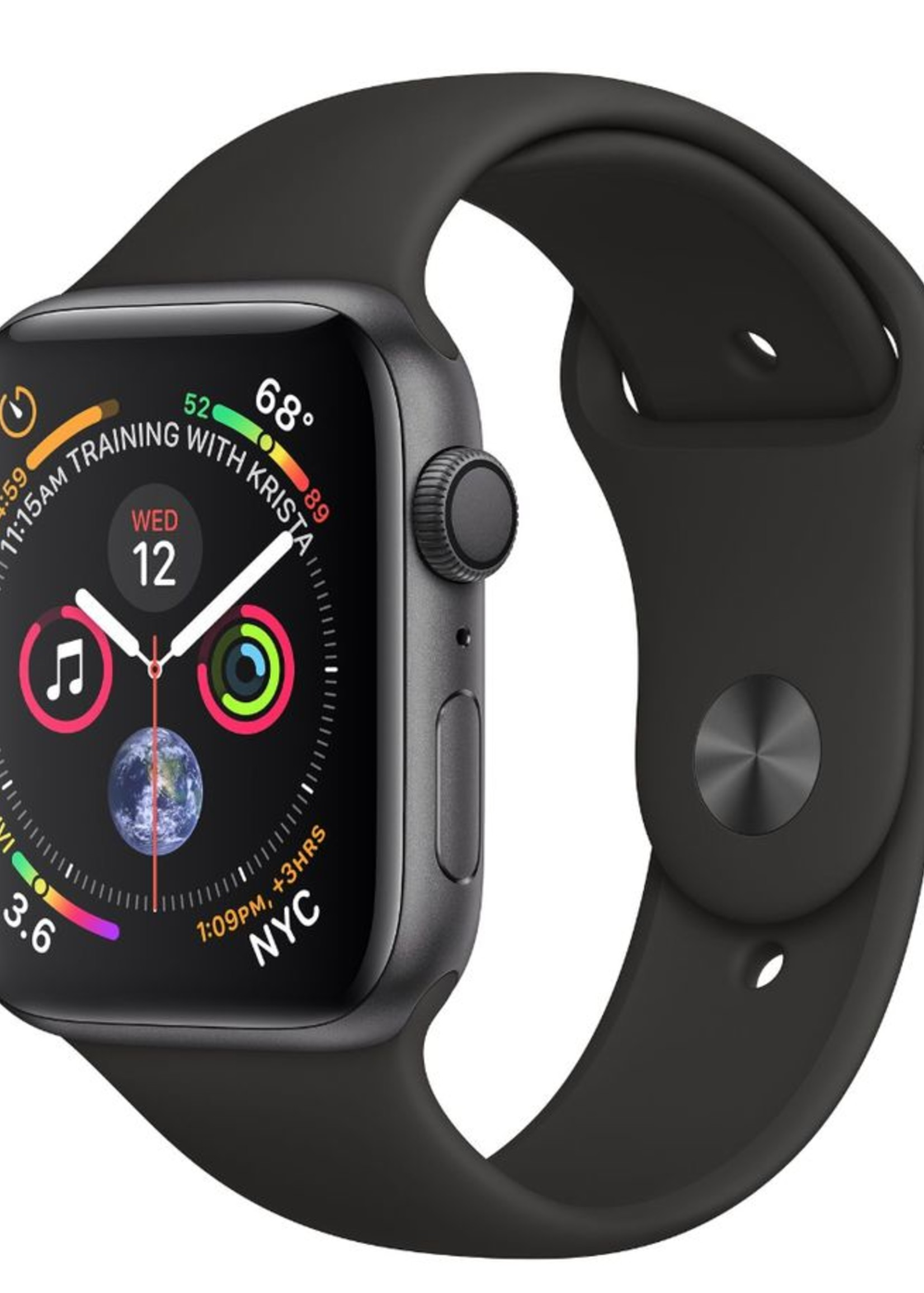 Apple Watch 4 GPS + Cellular 40mm  Space Gray Aluminum Case with Black Sport Band