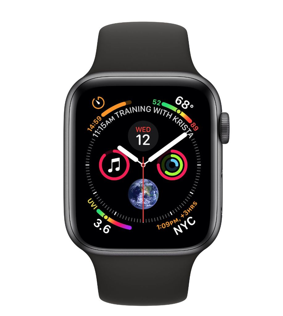 Apple Apple Watch 4 GPS + Cellular 40mm  Space Gray Aluminum Case with Black Sport Band