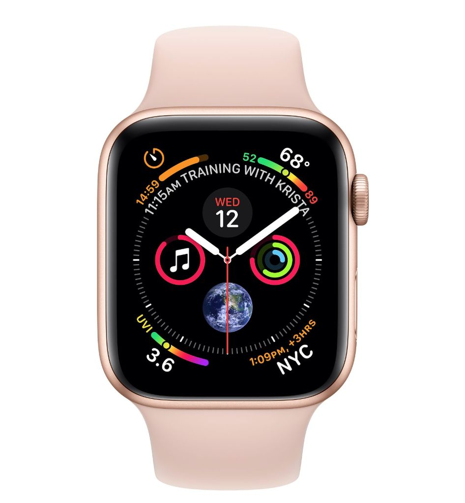 Apple Apple Watch 4 GPS + Cellular 40mm Gold Aluminum Case and Pink Sand Sport Band