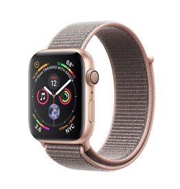 Apple Apple Watch 4 GPS + Cellular 40 mm Gold Aluminum Case with Pink Sand Sport Loop